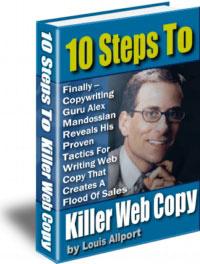 Ebook cover: 10 Steps To Killer Web Copy