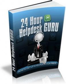 Ebook cover: 24 Hour Helpdesk Guru