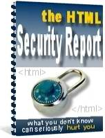 Ebook cover: The HTML Security Report