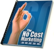 Ebook cover: The No Cost Marketing Report
