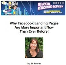 Ebook cover: Why Facebook Landing Pages Are More Important Now Than Ever Before!