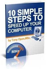 Ebook cover: 10 Simple Steps To Speed Up Your Computer