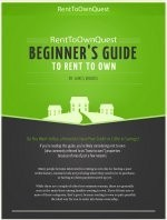 Ebook cover: Beginner's Guide to Rent to Own