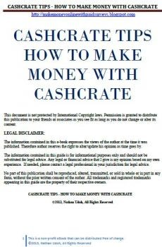 Ebook cover:  Cashcrate Tip - How to Make Money With Cashcrate