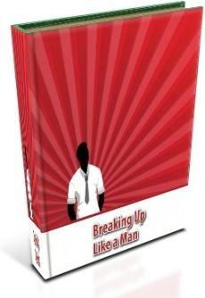 Ebook cover: BREAKING UP Like a Man