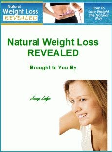 Ebook cover: Natural Weight Loss Revealed by Jenny Lodge