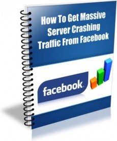 Ebook cover: How To Get Massive Server Crashing Traffic From Facebook