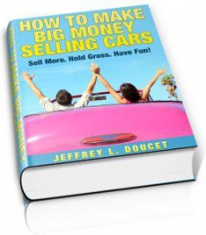Ebook cover: How To Make Big Money Selling Cars