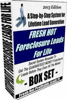 Ebook cover: Fresh Hot Foreclosure Leads For Life