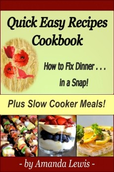 Ebook cover: Quick Easy Recipes Cookbook: Plus Slow Cooker Meals!