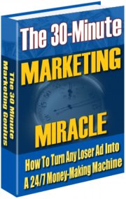 Ebook cover: The 30 Minute Marketing Miracle