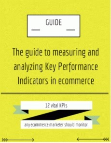 Ebook cover: Ecommerce KPIs Guide