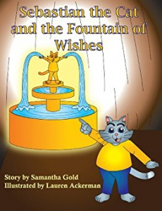 Ebook cover: Sebastian the Cat and the Fountain of Wishes