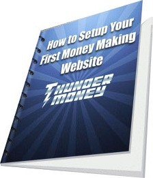 Ebook cover: How to Setup Your First Money Making Website