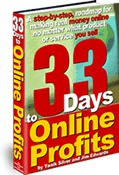 Ebook cover: 33 Days to Online Profits