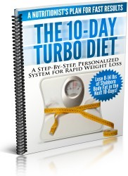 Ebook cover: The 10-Day Turbo Diet