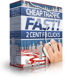 Ebook cover: Cheap Traffic Fast! 2 Cents Facebook Clicks