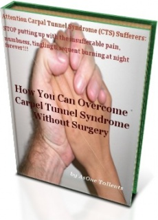 Ebook cover: How You can Overcome Carpel Tunnel Syndrome Without Surgery