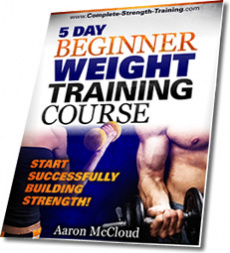 Ebook cover: 5 Day Beginner Weight Training Course