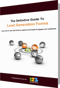 Ebook cover: The Definitive Guide To Lead Generation Forms