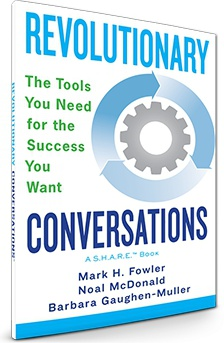 Ebook cover: Enlarge  Revolutionary Conversations- Tools for successful communication skills.