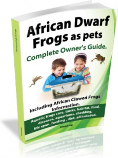 Ebook cover: African Dwarf Frogs as pets