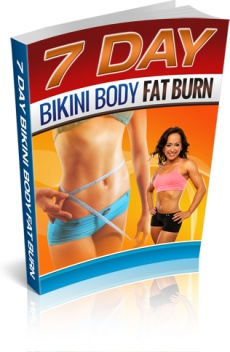 Ebook cover: 7-Days Bikini Body Fat Burn
