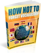 Ebook cover: How Not To Forget Vocabulary