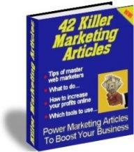 Ebook cover: 42 Killer Marketing Articles