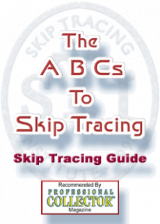 Ebook cover: ABCs To Skip Tracing Manual
