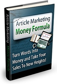 Ebook cover: Article Marketing Money Formula