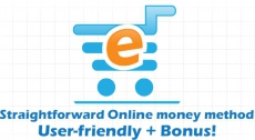 Ebook cover: Straightforward easy online income + Bonus