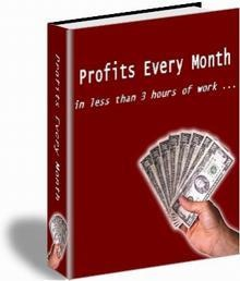 Ebook cover: Profits Every Month