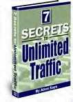 Ebook cover: 7 Secrets to Unlimited Traffic