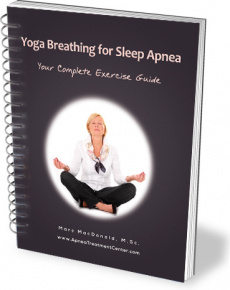 Ebook cover: Yoga Breathing For Sleep Apnea: Your Complete Exercise Guide!