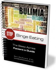 Ebook cover: Stop Binge Eating: The Sleep Apnea Patients Guide