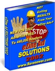 Ebook cover: eZine Ad Solutions 2002