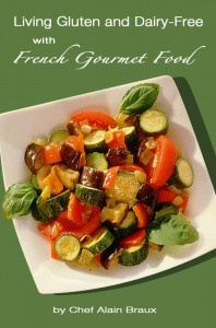 Ebook cover: Living Gluten and Dairy-Free with French Gourmet Food