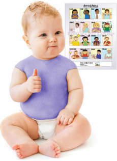 Ebook cover: Baby Sign Language Color Full Poster Signing Kit