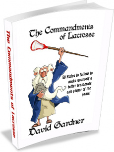 Ebook cover: The Commandments of Lacrosse