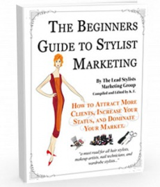 Ebook cover: The Beginners Guide to Stylist Marketing