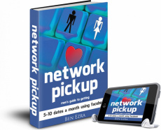 Ebook cover: Network Pickup - men's guide to getting 5 - 10 dates a month using facebook