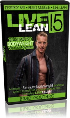 Ebook cover: Live Lean 15 Bodyweight Workout System