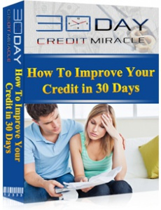 Ebook cover: The 30 Day Credit Miracle