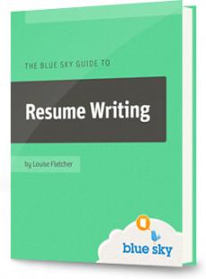 Ebook cover: Blue Sky Guide toResume Writing