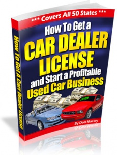 Ebook cover: How to Get a Car Dealer License and Start a Profitable Used Car Business