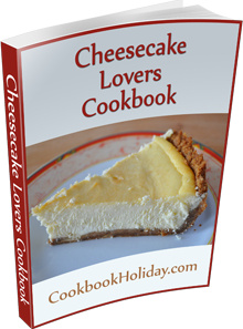 Ebook cover: Cheesecake Lovers Cookbook