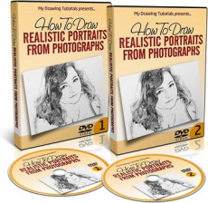 Ebook cover: How To Draw A Realistic Portrait From Photograph