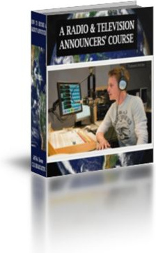 Ebook cover: Radio & Television Announcers' course