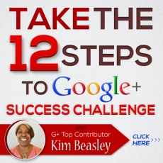 Ebook cover: 12 Steps to Google+ Success Strategy Webcamp